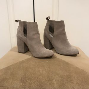 Steve Madden taupe/grey booties